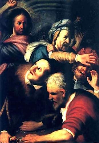 rembrandt Jésus chassant les vendeurs (1654).jpg
